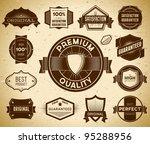 set of vintage premium quality... | Shutterstock .eps vector #95288956
