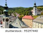 banska stiavnica city hall and...   Shutterstock . vector #95297440