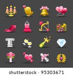 dark series   wedding love... | Shutterstock .eps vector #95303671
