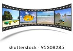 3d film strip with nice...