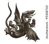 medieval dragon   vintage... | Shutterstock .eps vector #95308765