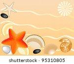 set of seashells  stones  sea... | Shutterstock .eps vector #95310805