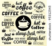 retro coffee badges and labels... | Shutterstock .eps vector #95312545