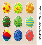 vector set of decorated easter...   Shutterstock .eps vector #95316667