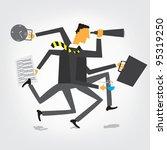 businessman orchestra | Shutterstock .eps vector #95319250