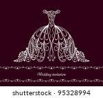 wedding dress   Shutterstock .eps vector #95328994