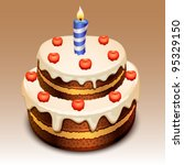 cake - stock vector