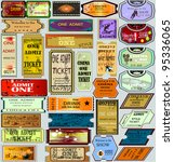 the big set of vector tickets... | Shutterstock .eps vector #95336065
