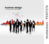 business people team with graph ... | Shutterstock .eps vector #95347276
