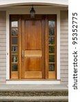 front door showing hanging... | Shutterstock . vector #95352775