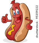 hot dog thumbs up cartoon... | Shutterstock .eps vector #95359222