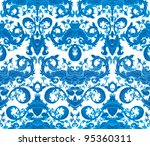 seamless blue and white flowers ...