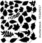 Vector Black Silhouettes Of...