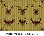 Deer And Moose Horns Hunting...