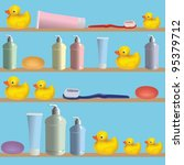 blue bathroom seamless pattern  ...   Shutterstock .eps vector #95379712