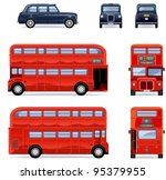 london city bus and cab  set ... | Shutterstock .eps vector #95379955