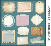 set of old paper scrapbooking... | Shutterstock .eps vector #95383204