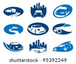 car. abstract element set of... | Shutterstock .eps vector #95392249