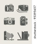 photocamera retro and new set... | Shutterstock .eps vector #95395657