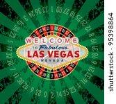 vector american roulette wheel... | Shutterstock .eps vector #95398864