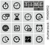 clocks  time icons set. | Shutterstock .eps vector #95400952