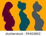 Three Beautiful Pregnant Woman...