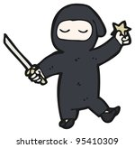 cartoon ninja | Shutterstock . vector #95410309