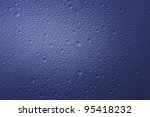 water drops blue - stock photo