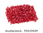 a pile of pomegranate arils on... | Shutterstock . vector #95419039