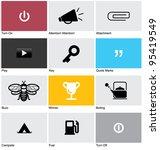 set of pictograms. vector... | Shutterstock .eps vector #95419549