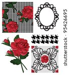 Vector Rose Patterns And Icons...