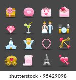 dark series   wedding love... | Shutterstock .eps vector #95429098