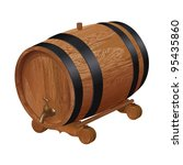 Realistic Wooden Barrel ...