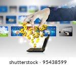 online business.dollar sign...   Shutterstock . vector #95438599