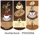 three banners for local cafes   Shutterstock .eps vector #95452006