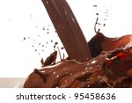 splash of chocolate isolated on ... | Shutterstock . vector #95458636
