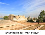 View on the old arabic city Yafo from the highest point of Old Yafo city (Tel-Aviv. Israel) - stock photo