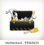 black toolbox  10eps | Shutterstock .eps vector #95465614