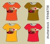t shirt print | Shutterstock .eps vector #95468758