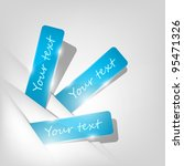 blue stickers sticking out of... | Shutterstock .eps vector #95471326