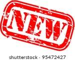 grunge new rubber stamp  vector ... | Shutterstock .eps vector #95472427