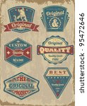 vintage styled quality label... | Shutterstock .eps vector #95472646