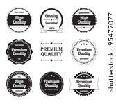 high quality labels set | Shutterstock .eps vector #95477077
