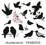 animal,beautiful,beauty,bird,bloom,blossom,collection,couple,decal,decoration,design,dove,feather,finch,flock