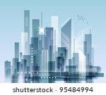 city skyline | Shutterstock . vector #95484994