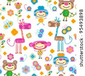 animals seamless  background | Shutterstock .eps vector #95493898