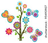 sweet flower tree and... | Shutterstock .eps vector #95493907