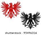 power retro eagles for heraldry ... | Shutterstock .eps vector #95496316