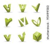 abstract letter v logo symbol... | Shutterstock .eps vector #95499583