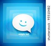 paper speech bubble on blue... | Shutterstock .eps vector #95510482
